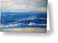 Waves At West Cape May Nj Greeting Card