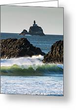 Waves Breaking At Ecola State Park Greeting Card