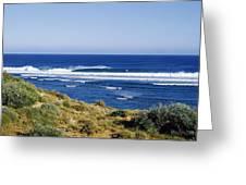 Waves Breaking On The Beach, Western Greeting Card