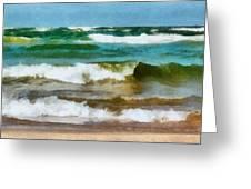 Waves Crash Greeting Card