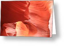 Waves Faces And Light Greeting Card