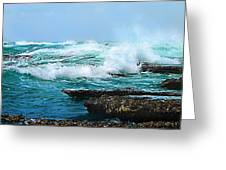 Waves Hitting Shore Greeting Card