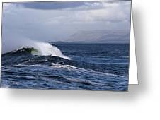 Waves In Easkey 2 Greeting Card by Tony Reddington
