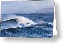Waves In Easkey 4 Greeting Card by Tony Reddington