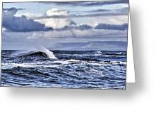 Waves In Easkey Greeting Card by Tony Reddington