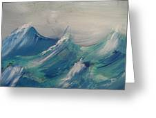 Waves In Motion Greeting Card
