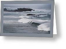 Powerful Waves Coming Ashore In San Juan # 1 Greeting Card