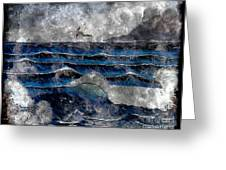 Waves - Ocean - Steel Engraving Greeting Card