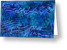 Waves Of Blue - Abstract Art Greeting Card
