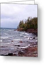 Waves Of Lake Superior Greeting Card
