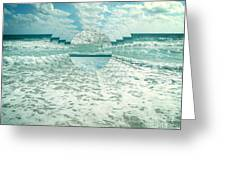 Waves Of Reflection Greeting Card