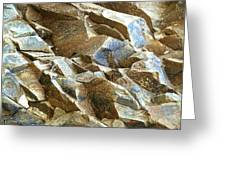 Waves Of Rock Greeting Card