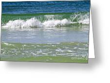 Waves Of The Gulf Of Mexico Greeting Card
