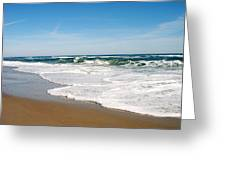 Waves On The Beach Greeting Card