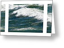 Waves Triptych Ll Greeting Card