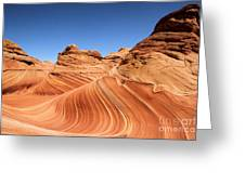 Waves Under Buttes Greeting Card