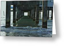 Waves Under The Clearwater Pier 60 Greeting Card