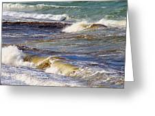 Waves - Wind - Fury Of The Sea Greeting Card