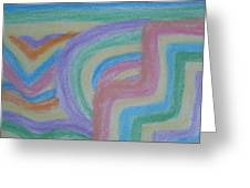 Waving Colors Greeting Card