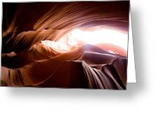 Wavy Antelope Canyon Rocks Greeting Card