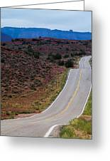 Wavy Road Greeting Card