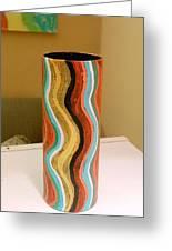 Wavy Vase Greeting Card