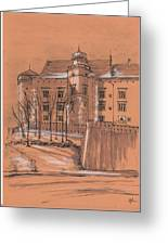 Wawel Castel Cracow Greeting Card