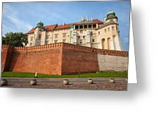 Wawel Royal Castle In Krakow Greeting Card