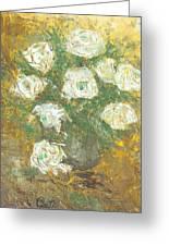 Waxen Roses Greeting Card