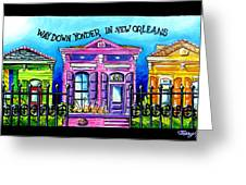 Way Down Yonder In New Orleans Greeting Card by Terry J Marks Sr