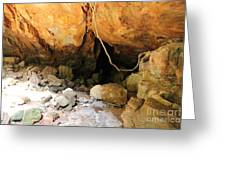 Way In The Cave Greeting Card