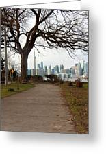 Way To Downtown Greeting Card