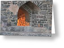 Way To The Fireplace Greeting Card