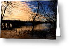 Wayland Central Mass Rr Trestle Greeting Card