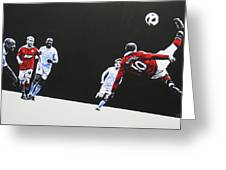 Wayne Rooney - Manchester United Fc Greeting Card