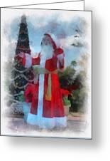 Wdw Santa Photo Art Greeting Card