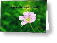We Are Equal Greeting Card