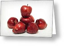 We Are Family - 6 Red Apples - Fresh Fruit - An Apple A Day - Orchard Greeting Card