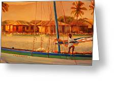 We Be Sailing Greeting Card