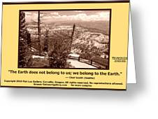 We Belong To Theearth Greeting Card