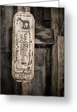 We Buy Old Horses - Vintage Thermometer Greeting Card