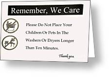 We Care Greeting Card