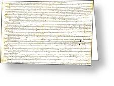 We The People Constitution Page 1 Greeting Card