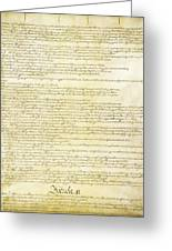 We The People Constitution Page 2 Greeting Card
