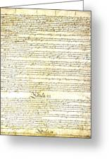 We The People Constitution Page 3 Greeting Card