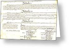 We The People Constitution Page 4 Greeting Card