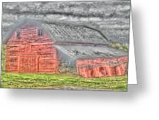Weather Barn Greeting Card by Sarah E Kohara