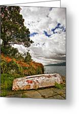 Weathered Boat Greeting Card