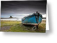 Weathered Boat On The Shore Greeting Card