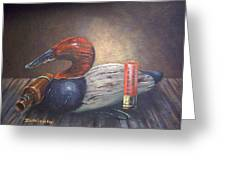 Weathered Canvasback Greeting Card